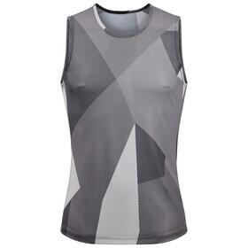 Cube Camiseta Interior Malla sin Mangas Hombre, gris/blanco